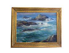 Edda Maxwell Heath Untitled Seascape Oil On Canvas, Signed