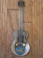 NASHVILLE TENN Music City USA Pewter Guitar Shaped Collector Spoon