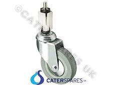 """1X 100Mm (4"""") Heavy Duty Swivel Castor For 30X30Mm Box Section Commercial Table"""