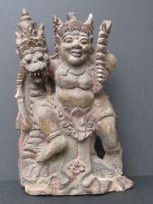 Grande Sculpture en Bois, Mythologie Bali INDONESIE
