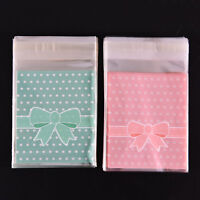 New 100X Self Adhesive Cookie Candy Package Bags Cellophane Wedding Birthday CO