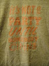 CRUZAN Rum Velvet Cinn -Not a Party Till Someone CINNS - Promo T Shirt MED Brown