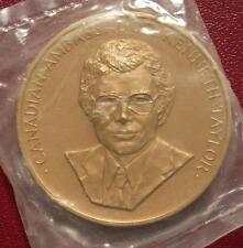 """Bronze  Canadian Ambassador Kenneth Taylor  Medal 3"""" in Original mint bag"""
