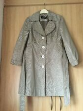 Authentic Planet Grey / Light Brown Long Sleeved Lightweight Coat - Size 10