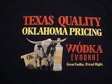 Wodka Vodka Texas Oklahoma black cow NEW T shirt 2XL