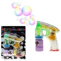 2x Seifenblasenpistole Seifenblasen  inkl. Bubble Fluid inkl. Batterien LED