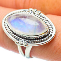 Rainbow Moonstone 925 Sterling Silver Ring Size 8.5 Ana Co Jewelry R34809F