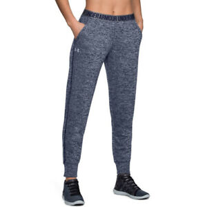Under Armour UA Ladies Graphic Blue Play Up Twist Womens Sports Gym Pants L