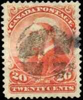 Canada #46 used VF 1893 Queen Victoria 20c vermilion Small Queen Fancy Cork