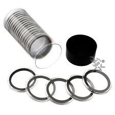 Silver & Copper Round Holder, Black Capsule Tube & 20 Air-Tite 39mm Black Rings