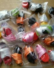 JOBLOT 25 MIXED COLOURED WHISTLES ON COLOURED LANYARDS party bags etc
