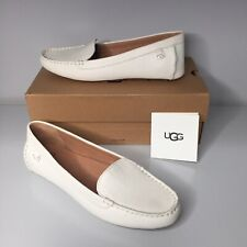 UGG Flores Leather Flat Loafers - Jasmine NIB Size 9