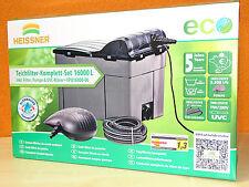 Heissner FPU 16000 Teichfilter Set, Eco Pumpe, 11W UVC zum Mega Hammerpreis