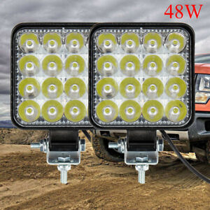 2PCS LED Work Light Bar Flood Spot Lights Driving Lamp Offroad Car Truck SUV 12V