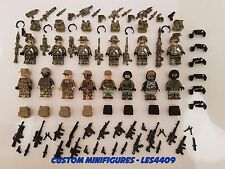 14pc Army | Military | SWAT | WWII Soldier Custom Minifigure +FREE LEGO BRICK UK