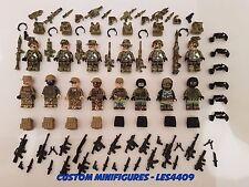 14pc Ejército | militar | Swat | la Segunda Guerra Mundial Soldado Custom Minifigura + Gratis Lego ladrillo UK