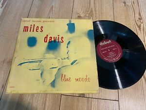 MILES DAVIS blue moods RARE US DEBUT 1ST PRESS JAZZ  deb 120 LP
