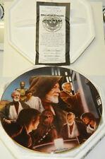 Star Wars Obi-Wan Kenobi Heroes & Villains Ceramic Plate 1996 with Box and Coa