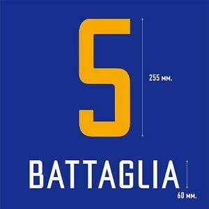 Battaglia 5. Boca Juniors Home football shirt 2003 2004 FLEX NAMESET NAME SET