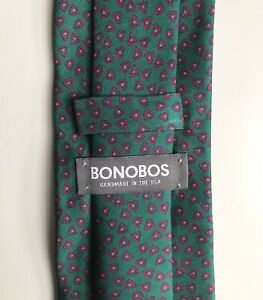 """Bonobos Tie, One-Celled Organism on Green : ), 3"""" Width, New-w/o-Tags!"""