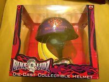Bike Lidz Die Cast Collectible Helmet Arlen Ness Motorcycles Purple Orange Flame