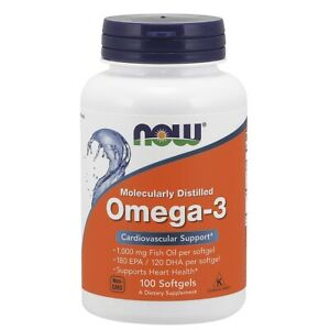 Now Foods Omega-3 1000Mg 100 Softgels Made in USA FREE SHIPPING
