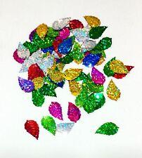 100 pcs Leaves Metallic Mix Color Flower Leaf Artificial Craft Scrapbook Decor