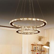 Modern 48W LED Kristall Deckenlampe Hängelampe Decken Kronleuchter IP44 Warmweiß
