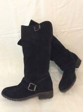DIESEL Black Knee High Suede Boots Size 40