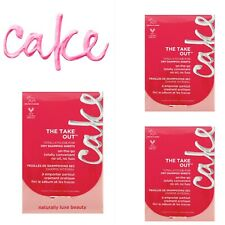 Cake The Take Out Dry Shampoo Sheets, 20 Blotting Sheets X3 Vegan New On The Go