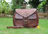 Madosh Satchel Bag Vintage Brown Leather Crossbody Handbag Womens Office Purse