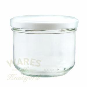 Glass Verrine Jars, 250ml ,With Lids, Packs: 12-192, Pâté, Salsa, Curds, New*