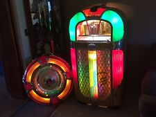 ANTIQUE VINTAGE ROCKOLA 1428 MAGIC GLO JUKE BOX & WURLITZER ROUND MIRROR SPEAKER