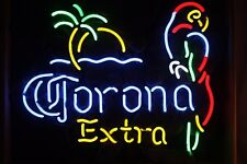 "New Corona Extra Parrot Left Palm Light Neon Sign Beer Bar Pub Gift 17""x14"""