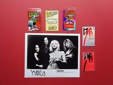 HOLE,Courtney LOVE, Promo Photo,5 VERY Rare old Backstage Passes