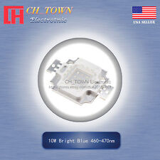 1Pcs 10W Watt High Power Blue 460-470nm SMD LED Chip Blub Beads Lamp