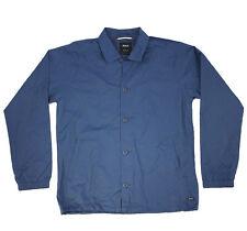 RVCA Blank Blue Coaches Jacket Jacket Nylon Coat Pocket Winter Fall