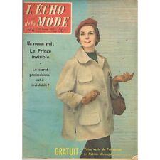 L'ÉCHO de la MODE Coiffure Lainage Soie Broder Tissu et  Tricot Divan 6 Fév 1957