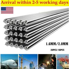 40pcs Aluminum Solution Welding Flux Cored Rods Wire Brazing Rod 20mm16mm Us