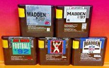 John Madden Football '92 '93 '94 '96 '97 Sega Genesis  - Rare & Tested 5 Games