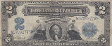 2 SILVER DOLLARS VG- FINE BANKNOTE FROM USA 1899 PICK-339 RARE