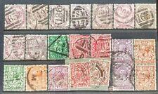 british stamps different postmark