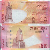 MACAO BILLETE 10 PATACAS. 08.08.2010 LUJO. Cat# P.80b