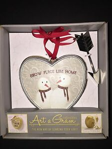 "Art a Gram COLLECTABLE HEARTS Table Top or Wall ""Snow Place Like Home"""