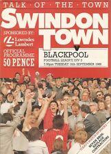 Swindon Town v Blackpool - Div 3 - 16/9/1986 - Football Programme