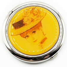 Victorian Woman Collectible Compact Mirror, Small Elegant 2 Sided Pocket Mirr.