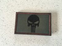 New Punisher patch Army Green Brown tactical Morale Hook Loop Patch 8x5cm
