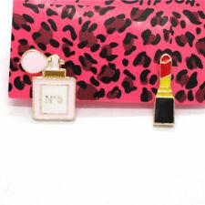 Betsey Johnson Enamel Women's Perfume Lipstick Crystal Women Stand Earrings