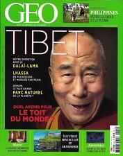 GEO n°464 octobre 2017  Tibet, quel avenir?/ Dalaï-Lama/ Iles Féroé/ Philippines
