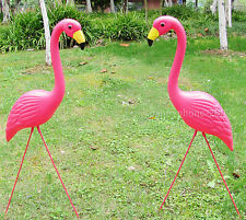 1pair plastic pink  flamingo garden yard  and lawn art ornament wedding ceremony